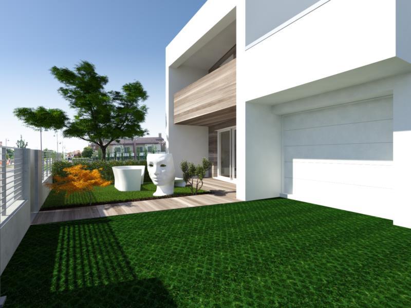 Vendita porzione di bifamiliare porzione di trifamiliare for Rendering giardino